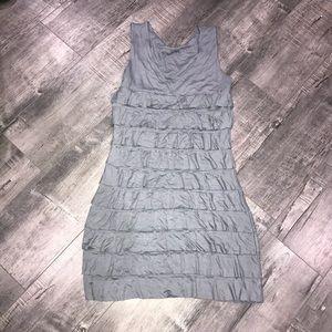 Dresses & Skirts - Grey ruffle dress